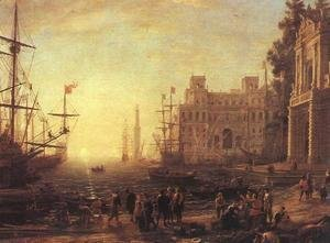 Claude Lorrain (Gellee) - Port with Villa Medici