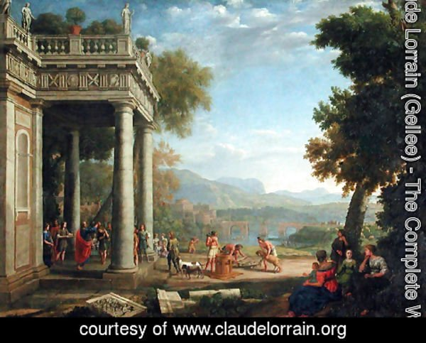 Claude Lorrain (Gellee) - David sacred king by Samuel