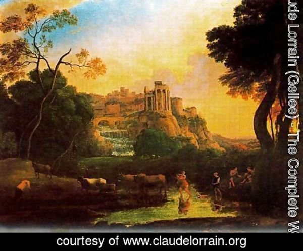 Claude Lorrain (Gellee) - Imaginary view of Tivoli