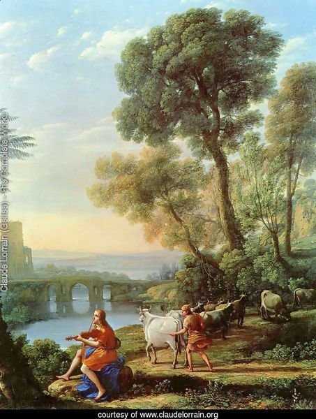 Landscape with Apollo and Mercury
