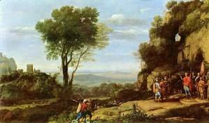 Claude Lorrain (Gellee) - Landscape with David and three heroes
