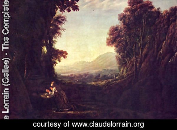Claude Lorrain (Gellee) - Landscape with Magdalena