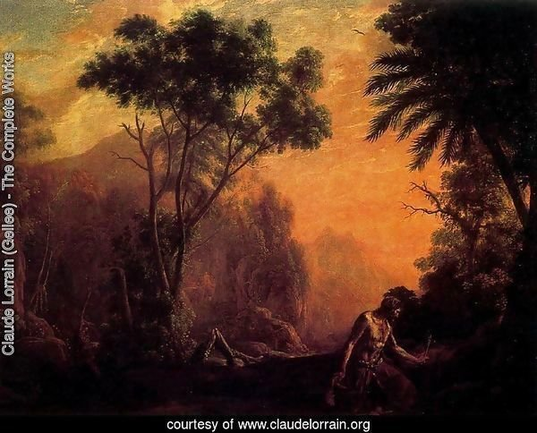 Landscape with hermit