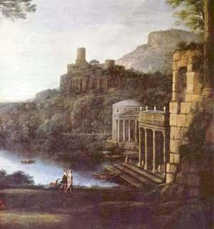 Claude Lorrain (Gellee) - Landscape with the nymph Egeria and King Numa