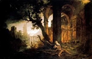 Claude Lorrain (Gellee) - Landscape with the temptations of San Antonio Abad