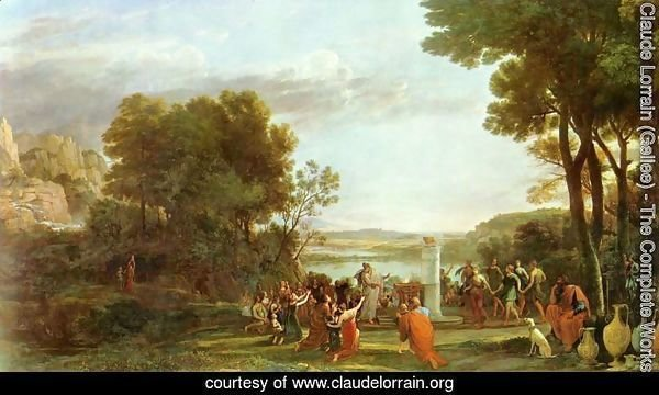 Landscape with the worship of the golden calf