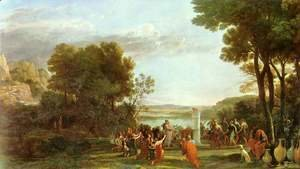 Claude Lorrain (Gellee) - Landscape with the worship of the golden calf