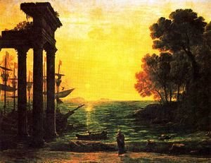 Claude Lorrain (Gellee) - Marina with Ezekiel crying on the ruins of Tyre
