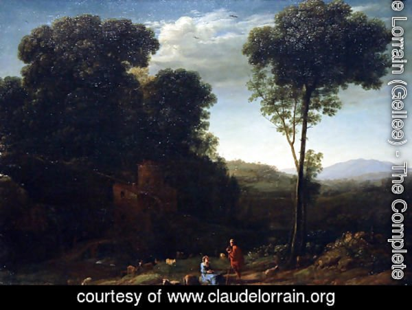 Claude Lorrain (Gellee) - Pastoral Landscape with a Mill