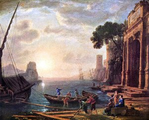 Claude Lorrain (Gellee) - Port at sunset
