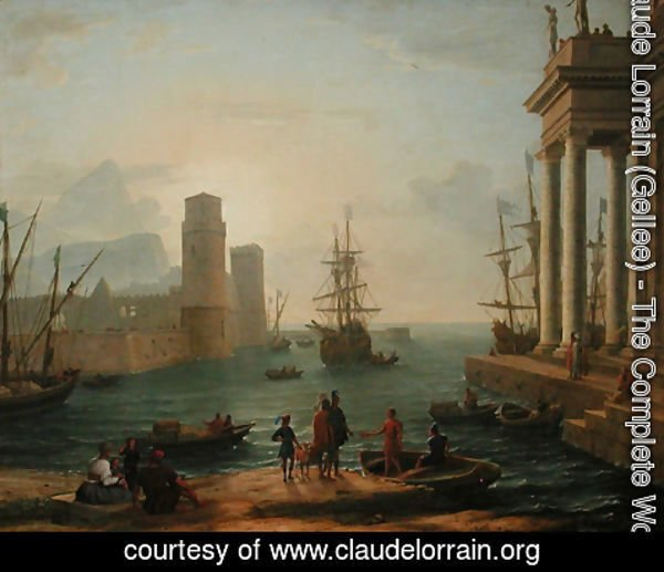 Claude Lorrain (Gellee) - Port, fog effect