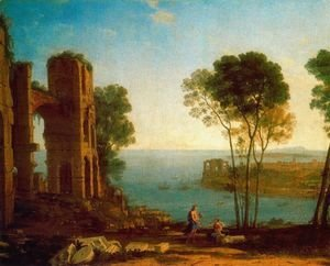 Claude Lorrain (Gellee) - The Bay's Port with Apollo and the Cumaean sibyl
