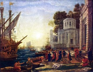 Claude Lorrain (Gellee) - The Disembarkation of Cleopatra at Tarsus
