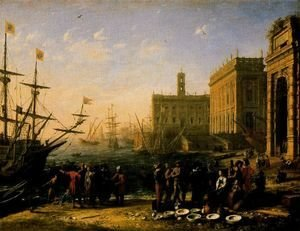 Claude Lorrain (Gellee) - View of a Port with the Capitol