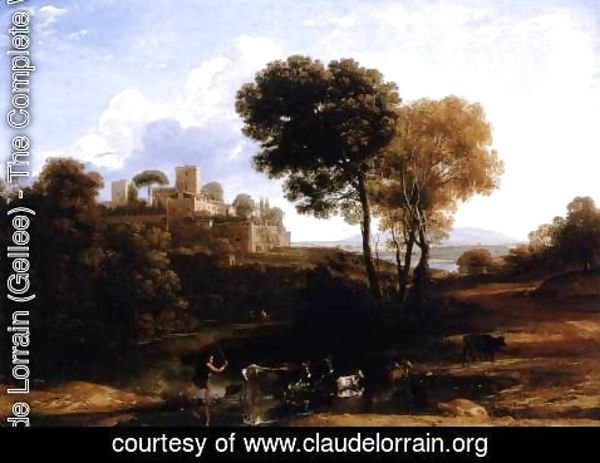 Claude Lorrain (Gellee) - Villa at the Campagna in Rome