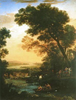 Claude Lorrain (Gellee) - Ideal Landscape with the Flight into Egypt