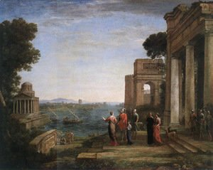 Claude Lorrain (Gellee) - Aeneas and Dido in Carthage 1675