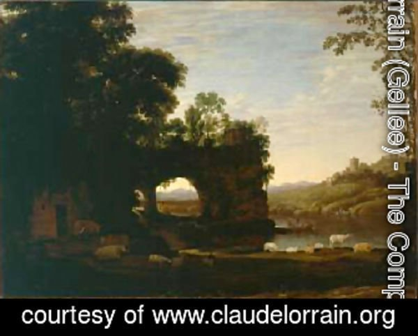 Landscape with a Rock and River 1628 30