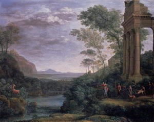 Claude Lorrain (Gellee) - Landscape with Ascanius Shooting the Stag of Sylvia