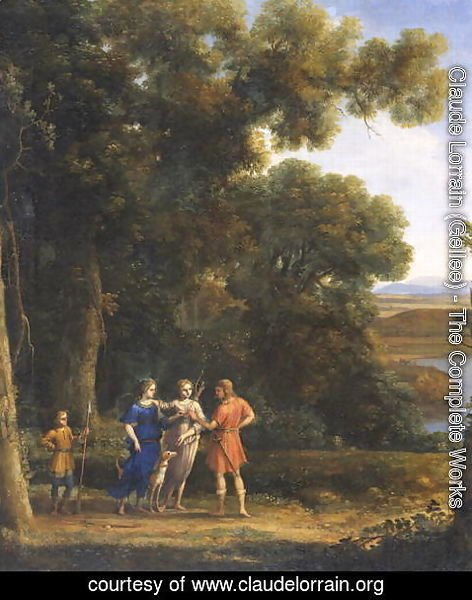 Claude Lorrain (Gellee) - Landscape with Figures 2