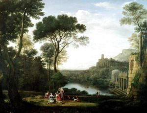 Claude Lorrain (Gellee) - Landscape with the Nymph Egeria