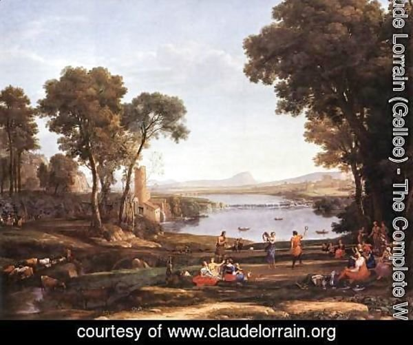 Claude Lorrain (Gellee) - Landscape with Water Mill