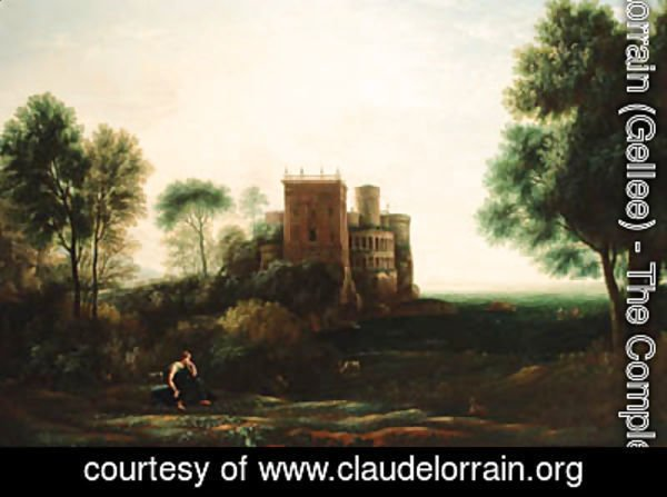 Claude Lorrain (Gellee) - A landscape with Psyche before the Palace of Love