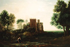 A landscape with Psyche before the Palace of Love