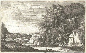 Claude Lorrain (Gellee) - The Flight into Egypt (Mannocci 9)