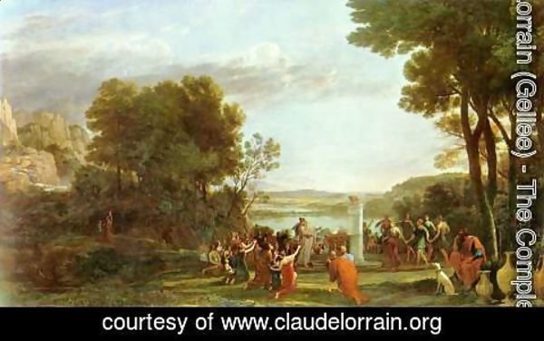 Claude Lorrain (Gellee) - Landscape with the Adoration of the Golden Calf