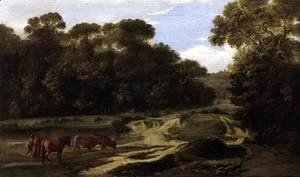 Claude Lorrain (Gellee) - Forest Path with Herdsmen and Herd