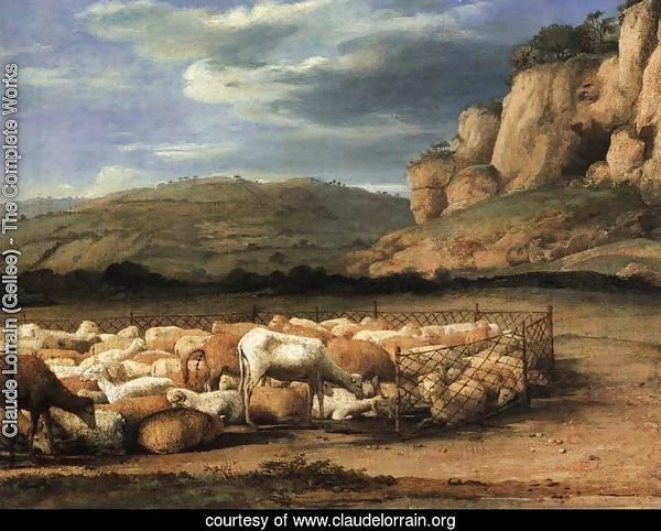 Flock of Sheep in the Campagna
