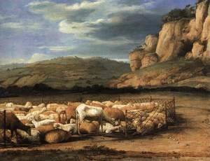 Claude Lorrain (Gellee) - Flock of Sheep in the Campagna