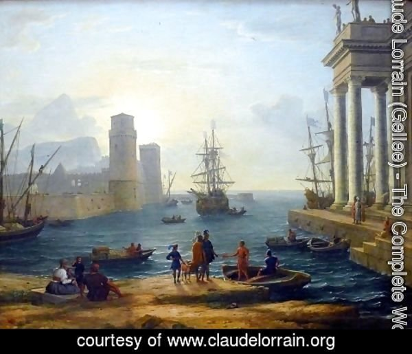 Claude Lorrain (Gellee) - Embarkation of Ulysses