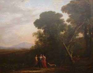 Claude Lorrain (Gellee) - Roman Ideal Landscape with Cephalus, Procris, and Diana