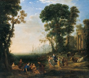 Claude Lorrain (Gellee) - Coast Scene with Europa and the Bull