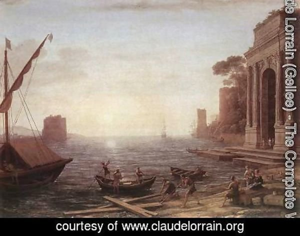 Claude Lorrain (Gellee) - A Seaport at Sunrise 1674
