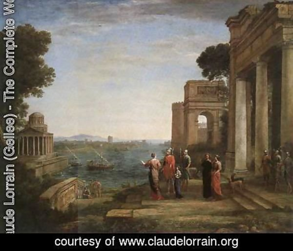 Claude Lorrain (Gellee) - Aeneas's Farewell to Dido in Carthago 1676