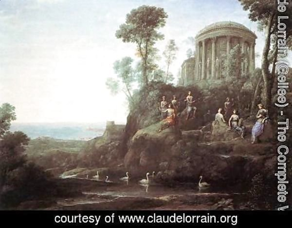 Claude Lorrain (Gellee) - Apollo and the Muses on Mount Helion (Parnassus) 1680