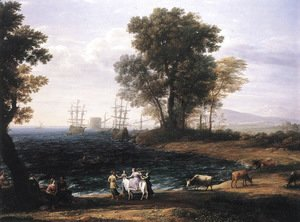 Claude Lorrain (Gellee) - Coast Scene with the Rape of Europa 1667