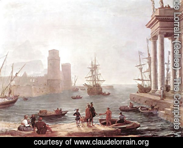 Claude Lorrain (Gellee) - Departure Of Ulysses From The Land Of The Feaci