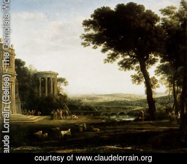 Claude Lorrain (Gellee) - Landscape With A Sacrifice To Apollo