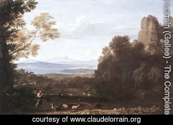 Claude Lorrain (Gellee) - Landscape with Apollo and Mercury 1660