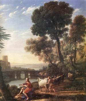 Claude Lorrain (Gellee) - Landscape with Apollo Guarding the Herds of Admetus 1645