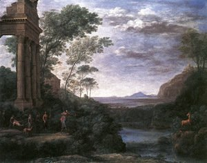 Claude Lorrain (Gellee) - Landscape with Ascanius Shooting the Stag of Sylvia 1682