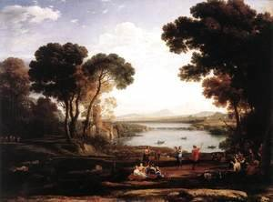 Claude Lorrain (Gellee) - Landscape With Dancing Figures (The Mill)