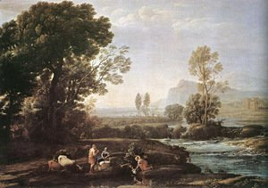 Claude Lorrain (Gellee) - Landscape with Rest in Flight to Egypt 1647