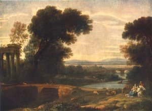 Claude Lorrain (Gellee) - Landscape with the Rest on the Flight into Egypt 1666