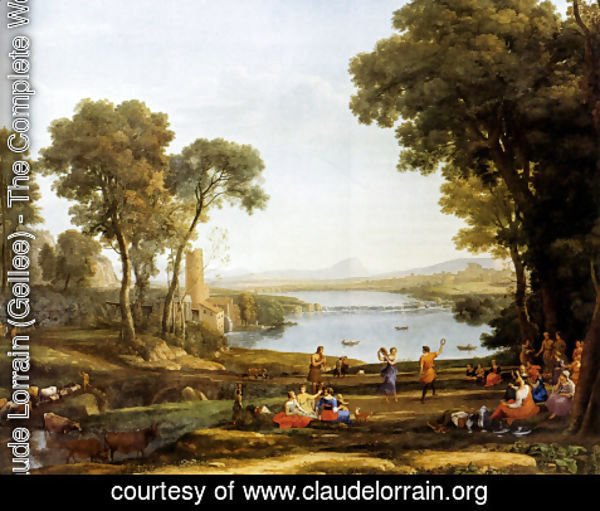 Claude Lorrain (Gellee) - Landscape With The Marriage Of Isaac And Rebekah