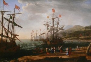 Claude Lorrain (Gellee) - Marine with the Trojans Burning their Boats 1643